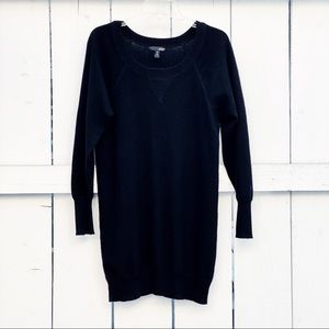 Dresses & Skirts - AQUA Cashmere Sweater Dress in Black